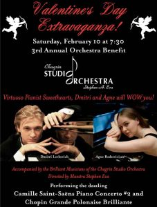 Program cover art for Valentine's Concert 2018