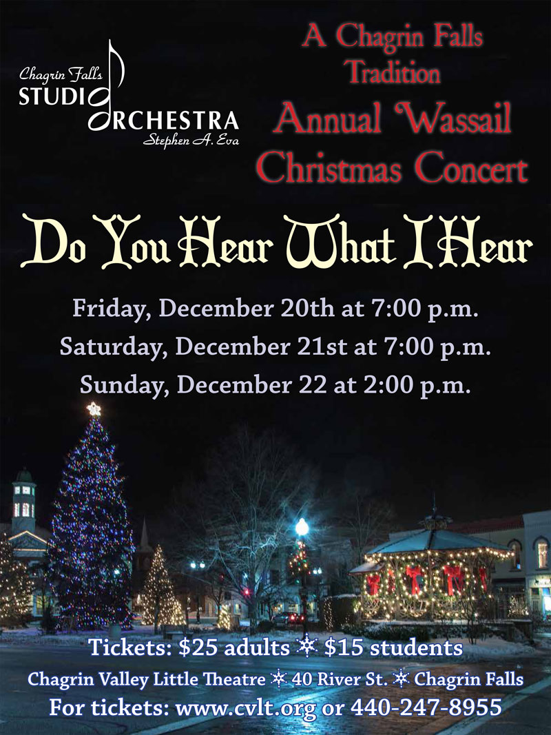 Chagrin Falls Studio Orchestra Christmas Wassil concert 2019